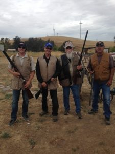 (Left to Right) Foundation Assistant Executive Director, Shane Rucker and Board Member, Jerry Neil Paul, were paired together with UA Local 343 Plumbers, Paul Shultz and John Hernandez. The team had a great time shooting sporting clays while supporting the great cause!